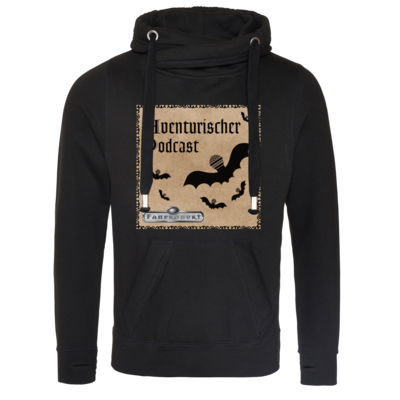 Motiv: Cross Neck Hoodie - Aventurischer Podcast Cover