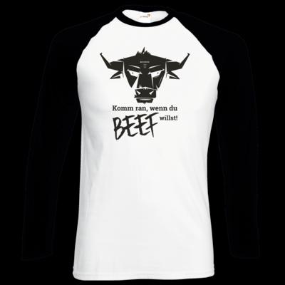 Motiv: Longsleeve Baseball T - Willste Beef?