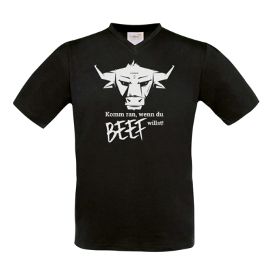 Motiv: T-Shirt V-Neck FAIR WEAR - Willste Beef?