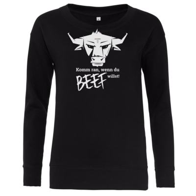 Motiv: Girlie Crew Sweatshirt - Willste Beef?