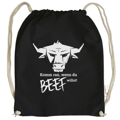 Motiv: Cotton Gymsac - Willste Beef?