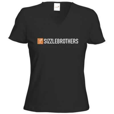Motiv: T-Shirts Damen V-Neck FAIR WEAR - SizzleBrothers Logo