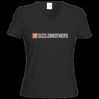 Motiv: T-Shirts Damen V-Neck FAIR WEAR - SizzleBrothers Logo