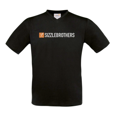 Motiv: T-Shirt V-Neck FAIR WEAR - SizzleBrothers Logo
