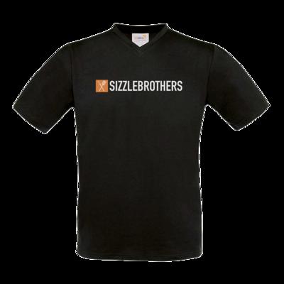 Motiv: T-Shirt V-Neck FAIR WEAR - SizzleBrothers Logo