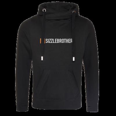 Motiv: Cross Neck Hoodie - SizzleBrothers Logo
