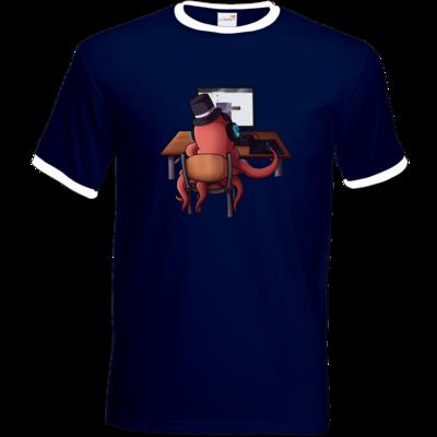 Motiv: T-Shirt Ringer - Supporter Krake