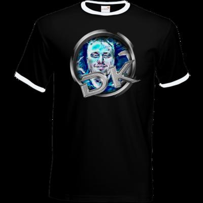 Motiv: T-Shirt Ringer - dekellner Logo Blau