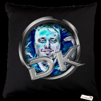 Motiv: Kissen Baumwolle - dekellner Logo Blau