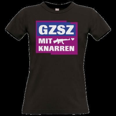 Motiv: T-Shirt Damen Premium FAIR WEAR - GZSZ mit Knarren