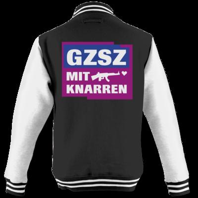 Motiv: College Jacke - GZSZ mit Knarren
