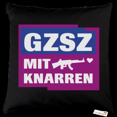Motiv: Kissen Baumwolle - GZSZ mit Knarren