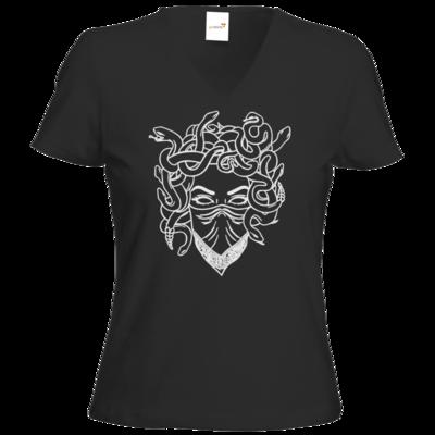Motiv: T-Shirt Damen V-Neck Classic - Medusa