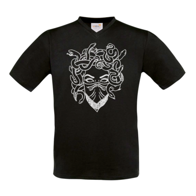 Motiv: T-Shirt V-Neck FAIR WEAR - Medusa