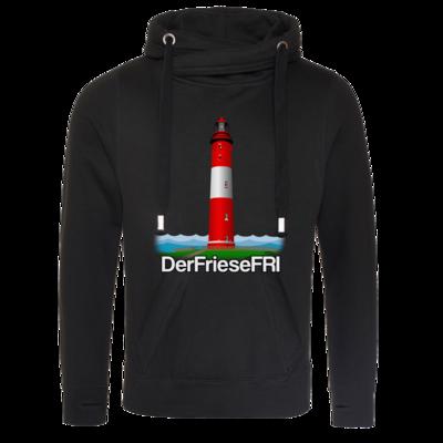 Motiv: Cross Neck Hoodie - DerFrieseFRI Logo ws
