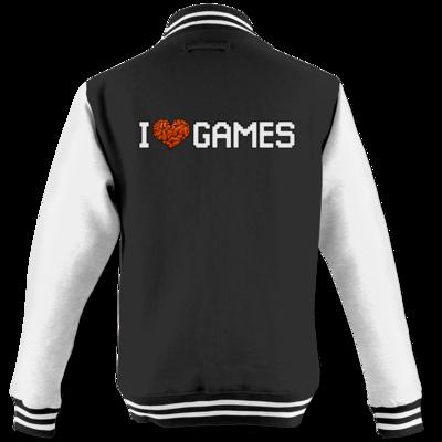 Motiv: College Jacke - hirnsturz-ILoveGames-Pixel
