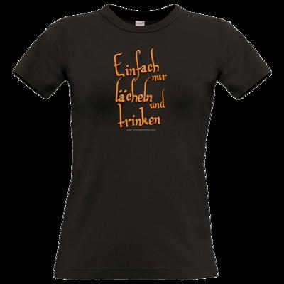 Motiv: T-Shirt Damen Premium FAIR WEAR - lächeln und trinken