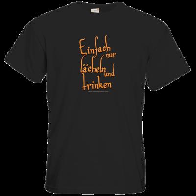 Motiv: T-Shirt Premium FAIR WEAR - lächeln und trinken
