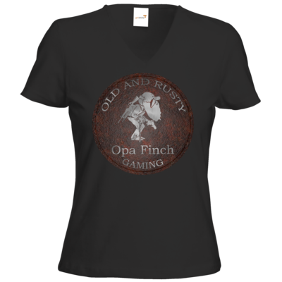 Motiv: T-Shirts Damen V-Neck FAIR WEAR - Opa Finch