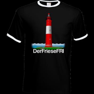 Motiv: T-Shirt Ringer - DerFrieseFRI Logo ws