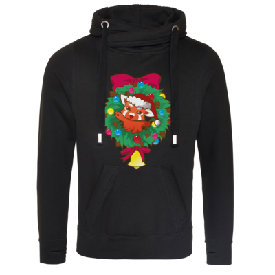 Motiv: Cross Neck Hoodie - Syrenia - Christmas