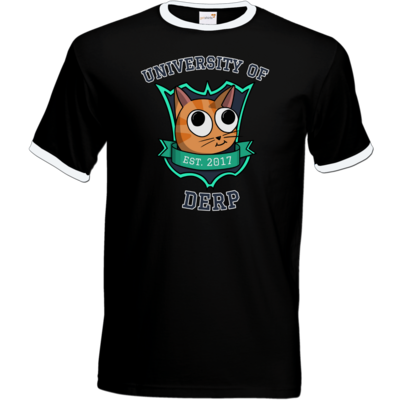 Motiv: T-Shirt Ringer - University of Derp