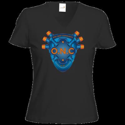 Motiv: T-Shirt Damen V-Neck Classic - O.N.C LOGO