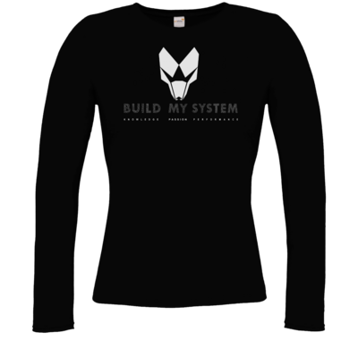 Motiv: Longsleeve Damen Organic - BUILD MY SYSTEM