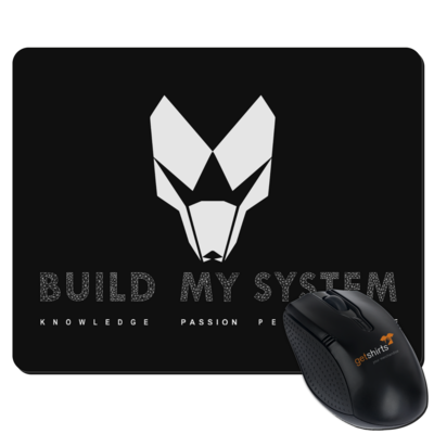 Motiv: Mousepad Textil - BUILD MY SYSTEM
