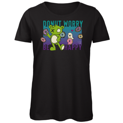 Motiv: Organic Lady T-Shirt - Zonbi & Boo (Friends) - Donut worry