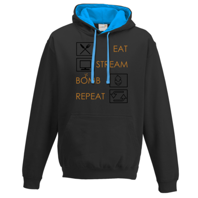 Motiv: Two-Tone Hoodie - EAT STREAM