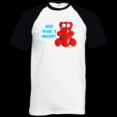 Motiv: TShirt Baseball - Lucky Bär - Ich war´s nicht! T-Shirt