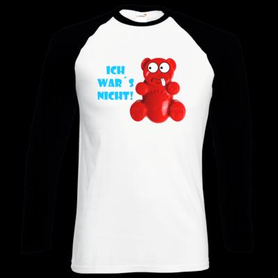 Motiv: Longsleeve Baseball T - Lucky Bär - Ich war´s nicht! T-Shirt