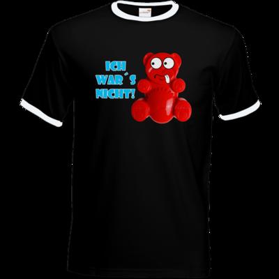 Motiv: T-Shirt Ringer - Lucky Bär - Ich war´s nicht! T-Shirt