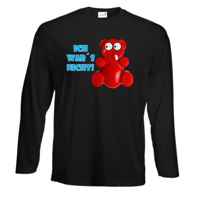 Motiv: Exact 190 Longsleeve FAIR WEAR - Lucky Bär - Ich war´s nicht! T-Shirt