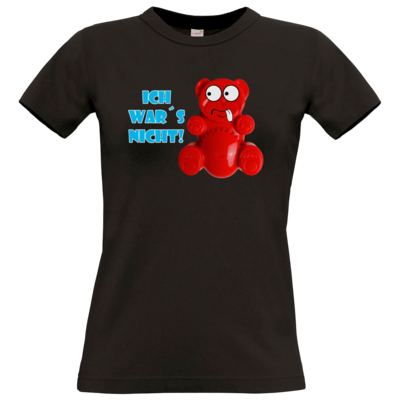 Motiv: T-Shirt Damen Premium FAIR WEAR - Lucky Bär - Ich war´s nicht! T-Shirt