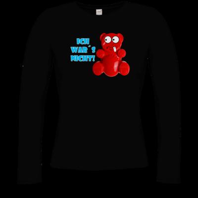 Motiv: Longsleeve Damen Organic - Lucky Bär - Ich war´s nicht! T-Shirt