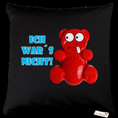Motiv: Kissen Baumwolle - Lucky Bär - Ich war´s nicht! T-Shirt