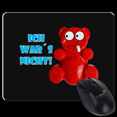 Motiv: Mousepad Textil - Lucky Bär - Ich war´s nicht! T-Shirt