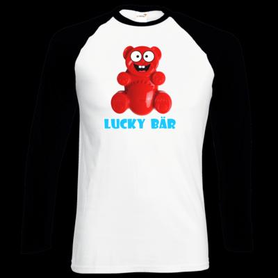 Motiv: Longsleeve Baseball T - Lucky Bär