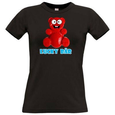 Motiv: T-Shirt Damen Premium FAIR WEAR - Lucky Bär