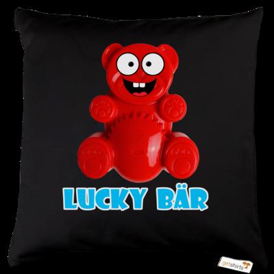 Motiv: Kissen Baumwolle - Lucky Bär