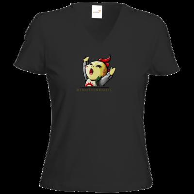 Motiv: T-Shirt Damen V-Neck Classic - DinosSindGeil