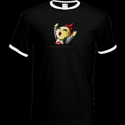 Motiv: T-Shirt Ringer - DinosSindGeil