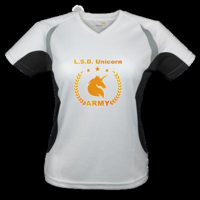 Motiv: Laufshirt Lady Running T - L.S.D. Unicorn Army