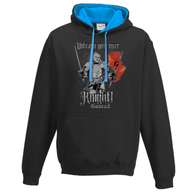 Motiv: Two-Tone Hoodie - Unleash your inner Knight!