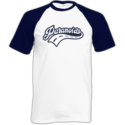 Motiv: Baseball-T FAIR WEAR - Paranoids Navy
