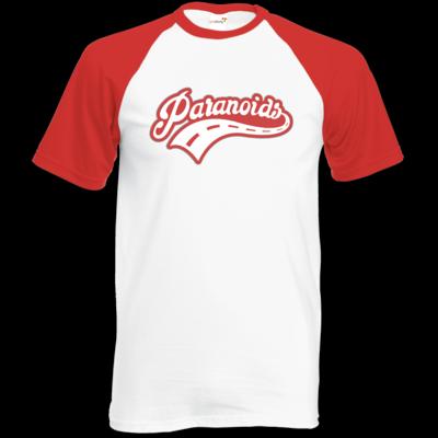 Motiv: Baseball-T FAIR WEAR - Paranoids Red