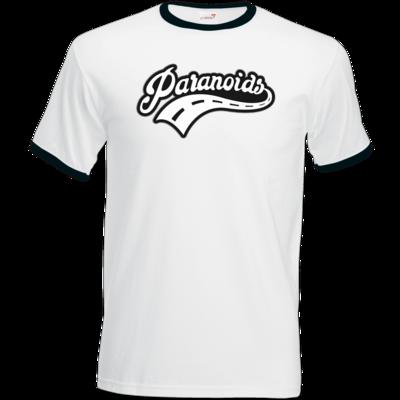 Motiv: T-Shirt Ringer - Paranoids Black