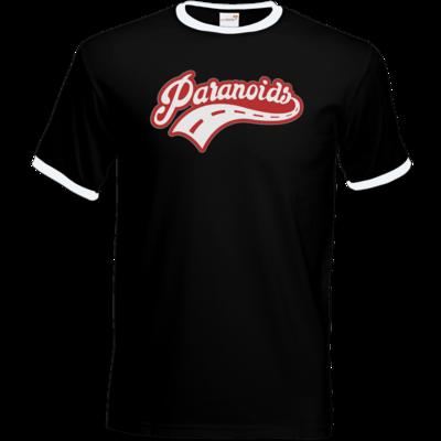 Motiv: T-Shirt Ringer - Paranoids Red
